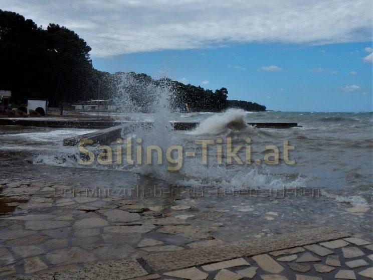 Wellen am Ufer