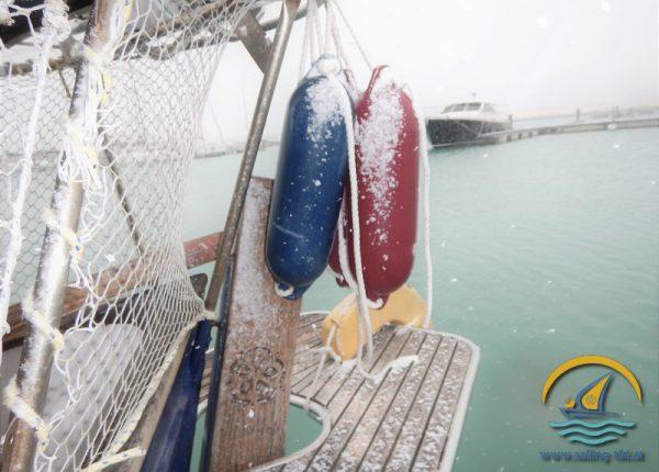 Snow on Boat